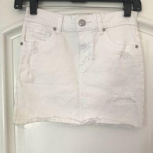 Joe's Jeans White Denim Skirt